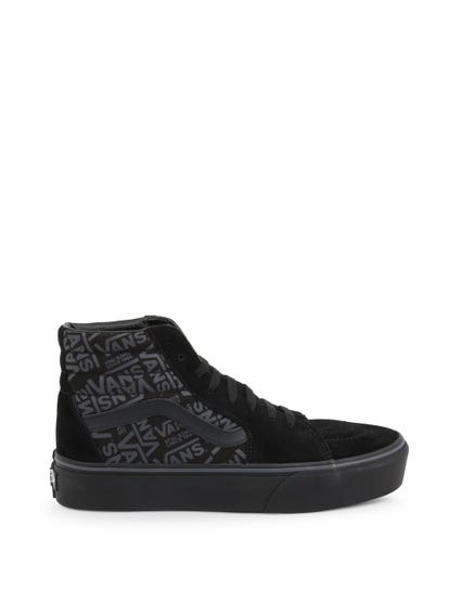 Black Hi Top Skate Sneakers