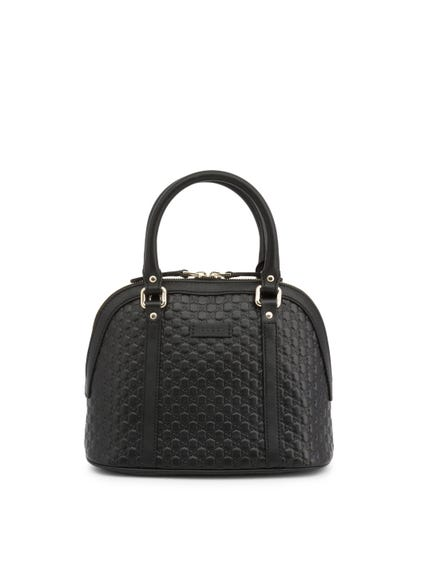 Leather Pattern Zipper Handbag
