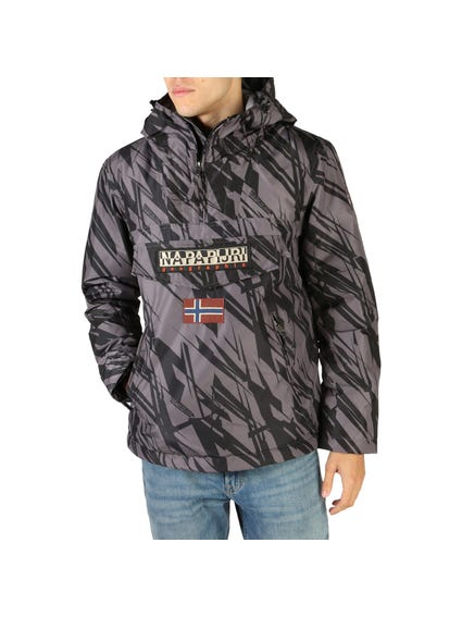 Graphic Rainforest Zip Pocket Jacket