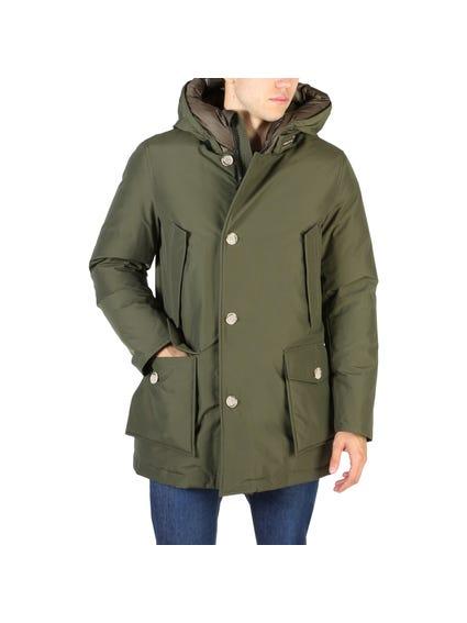 Green Arctic Button Parka Jacket