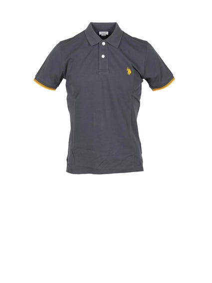 Collar Neck Logo Polo Shirt
