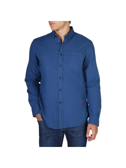 Blue Single Outer Pocket Shirt