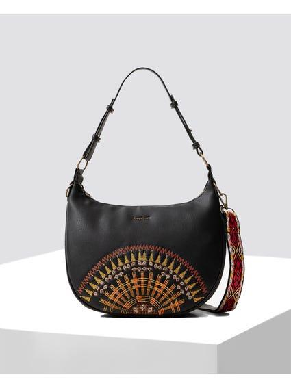 Big African Mandala Hobo Bag