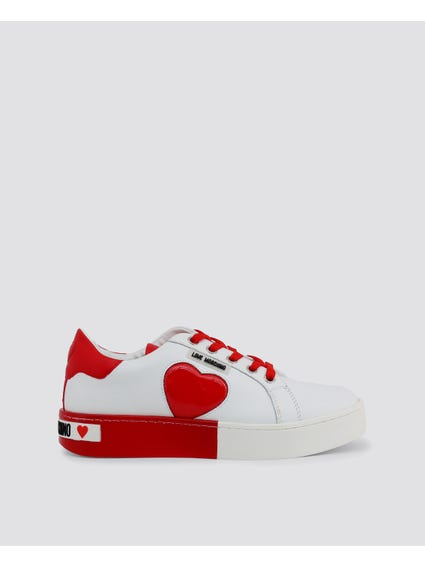 Red Patched Low Top Sneakers