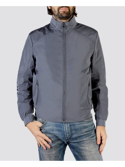 Grey Bomber Collection Jacket