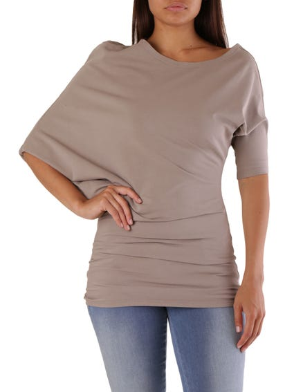 3/4 Sleeves Round Neck Top