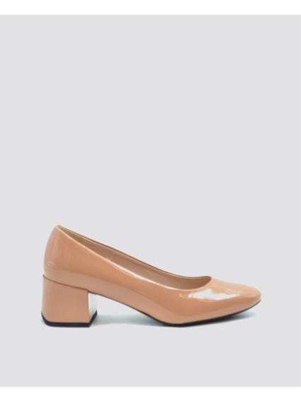 Patent Block Heel Pumps