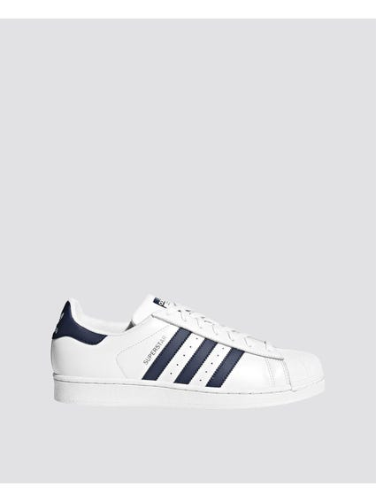 Navy Stripe Superstar Sneakers