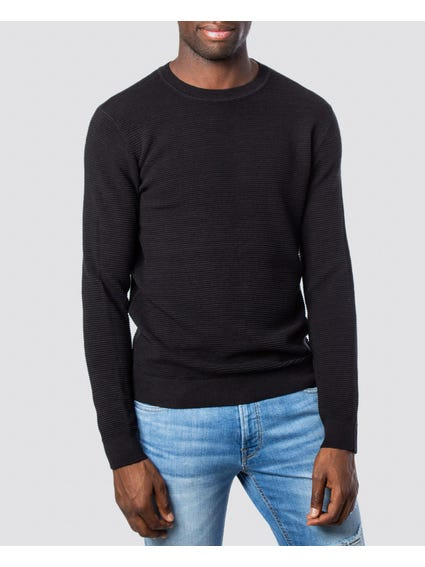Black Pleated Knitwear