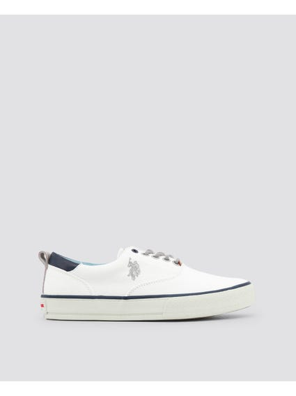 White Galan Pull on Sneakers