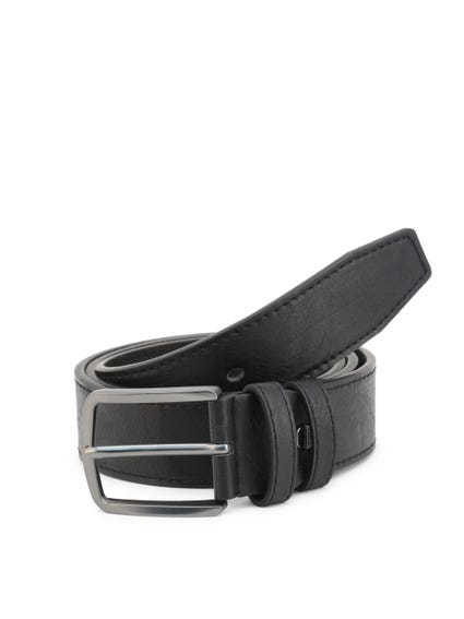 Black Leather Square Buckle Pin Blet