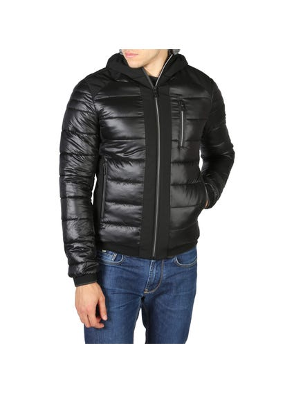 Black Hooded Zip Jacket