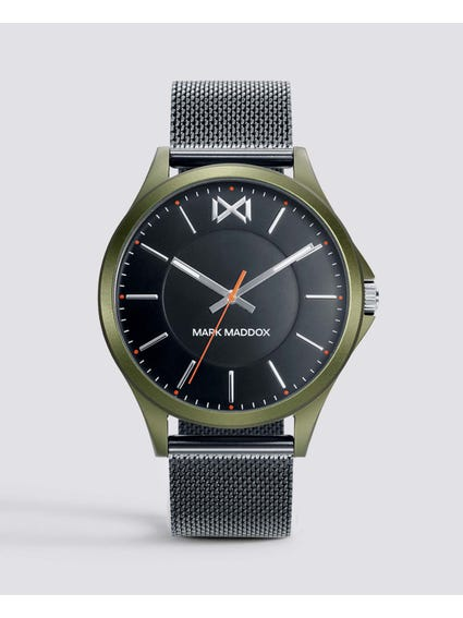 Shibuya Black Dial Mesh Watch