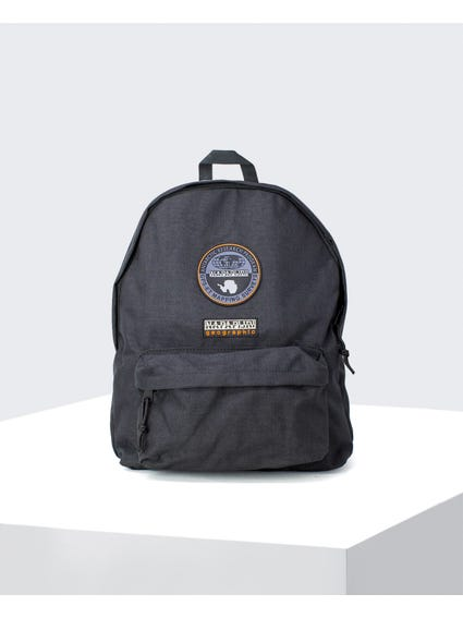 Black Logo Patch Backpack