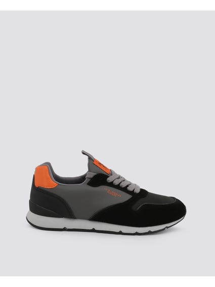 Black Maxil Contrast Sole Sneakers