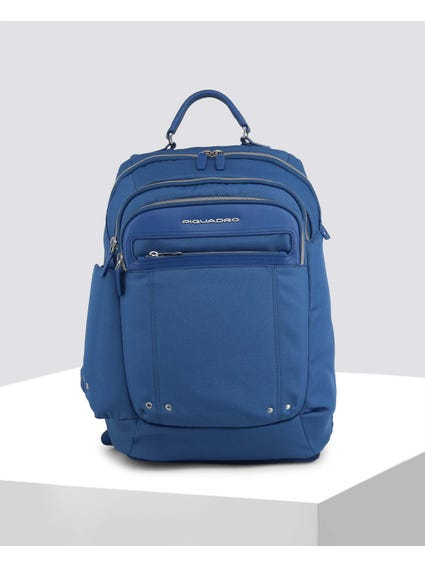 Blue Side Pocket Backpack