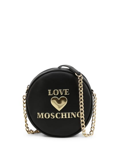 Black Round Zip Crossbody Bag