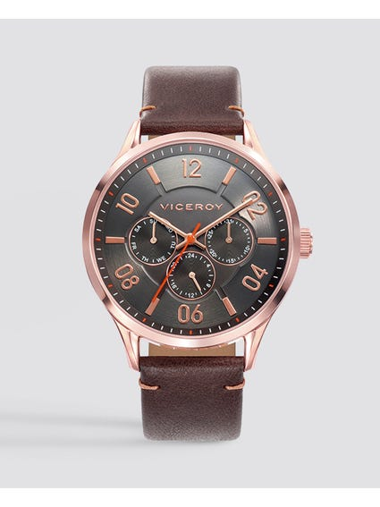 Beat Brown Dial Leather Watch