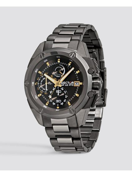 Grey Stainless Steel Multifunction Watch