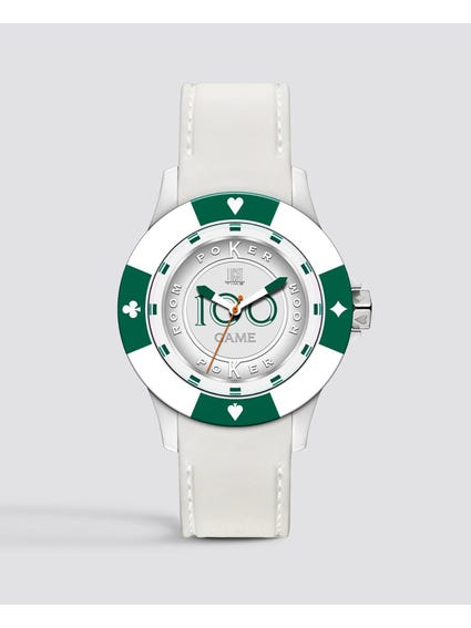 Green Silicone Poker Quartz Watch