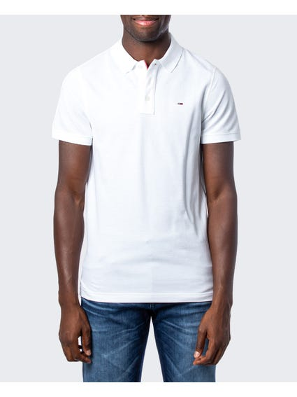 White Tri Button Polo Shirt