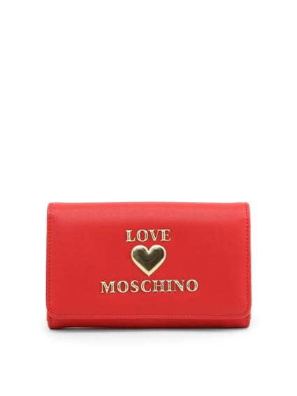 Red Embossed Snap Wallet