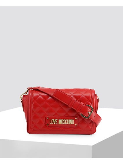 Red Quilted Leather Bag