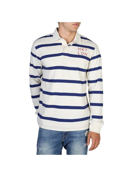 Striped Long Sleeves Polo Shirt