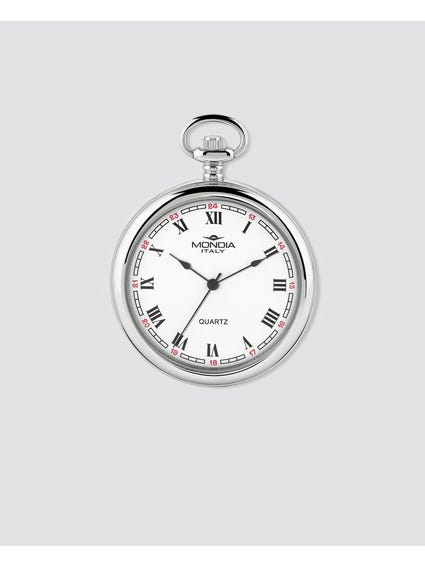 Silver Plated Quartz Pocket Watch