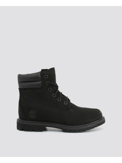 Black 6IN Collar Ankle Boots