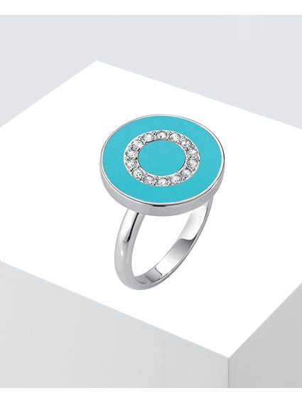 Blue Argento Plated Ring