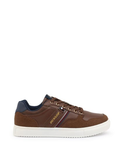 Saddle Brown Rubber Sole Sneakers