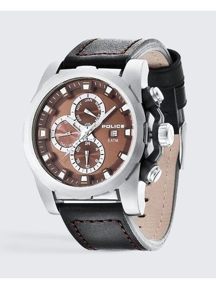 Three Window Analog Watch