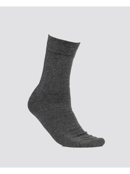 Charcoal Plain Mid Calf Socks