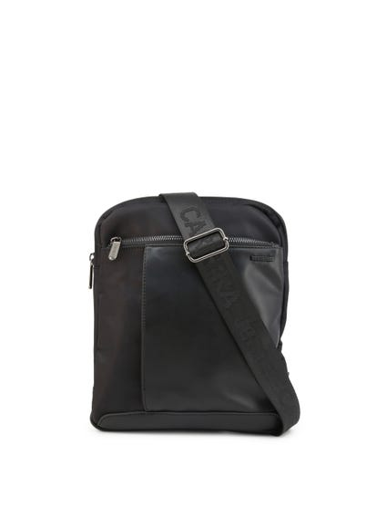 Black Leather Diego Zip Crossbody Bag