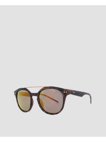 Printed Double Bridge Sunglasses