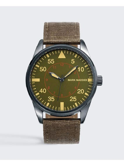 Aviator Plated Analog Watch