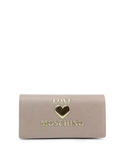 Grey Love Clutch Bag