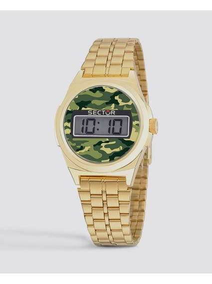 Green Dial Digital Watch