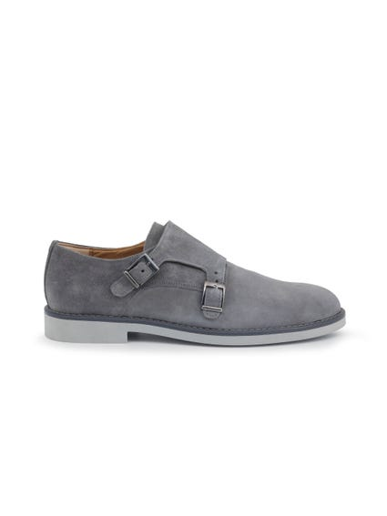 Round Toe Suede Buckle Shoes
