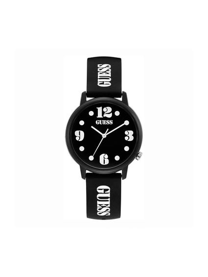 Black Dial Buckle Strap Watch