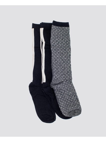 Black Soft Long Socks