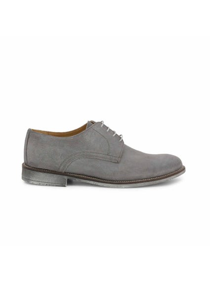 Grey Suede Camoscio Lace Shoes
