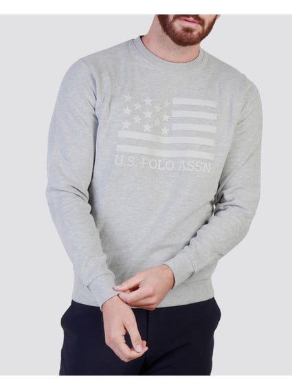 Grey Flag Printed Sweatshirt