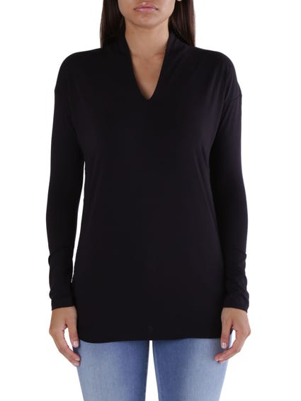 V Neck Long Sleeve Knitted Top