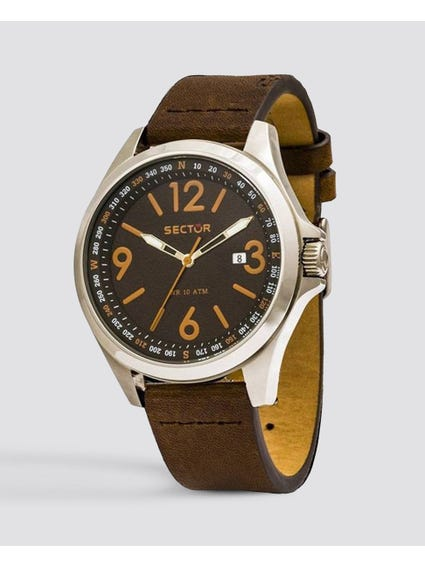 Brown Casual Leather Watch