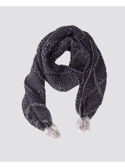 Blue Asta Knitted Scarf
