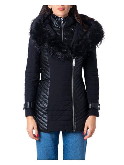 Black Collar Hood Fur New Oxana Jackets