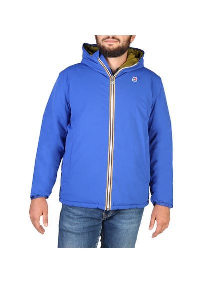 Blue Hooded Pocket Hooded Jacket