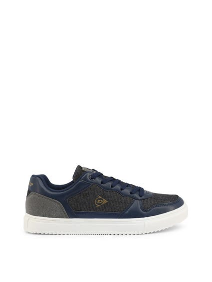 Navy Blue Square Toe Sneakers